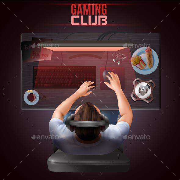 GraphicRiver Gamer Top View Illustration 20653090