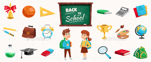 GraphicRiver Back To School Composition Poster 20653106