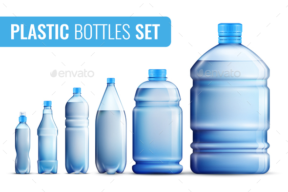 Plastic Bottles Icon Set - Sports/Activity Conceptual