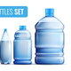 Plastic Bottles Icon Set