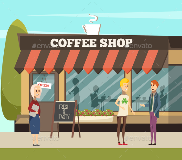 Coffee Shop Illustration - Food Objects