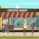 Coffee Shop Illustration - GraphicRiver Item for Sale