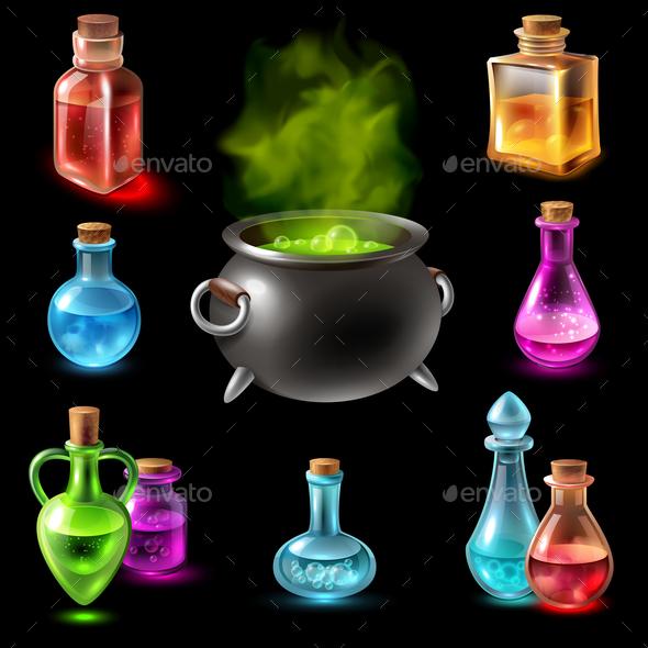 GraphicRiver Magic Hebenon Vial Collection 20653145