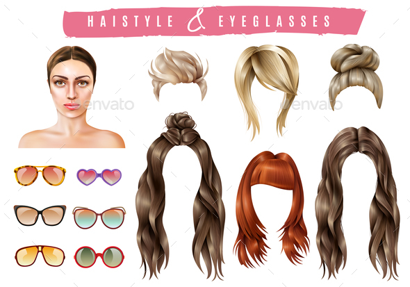 GraphicRiver Women Style Constructor Set 20653149