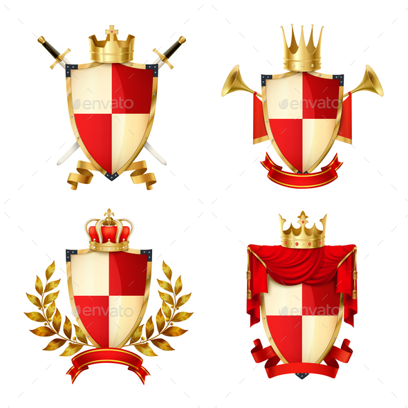 Heraldic Shields Set - Miscellaneous Vectors
