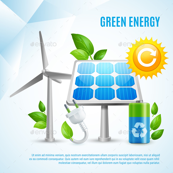 GraphicRiver Green Energy Design Concept 20653181