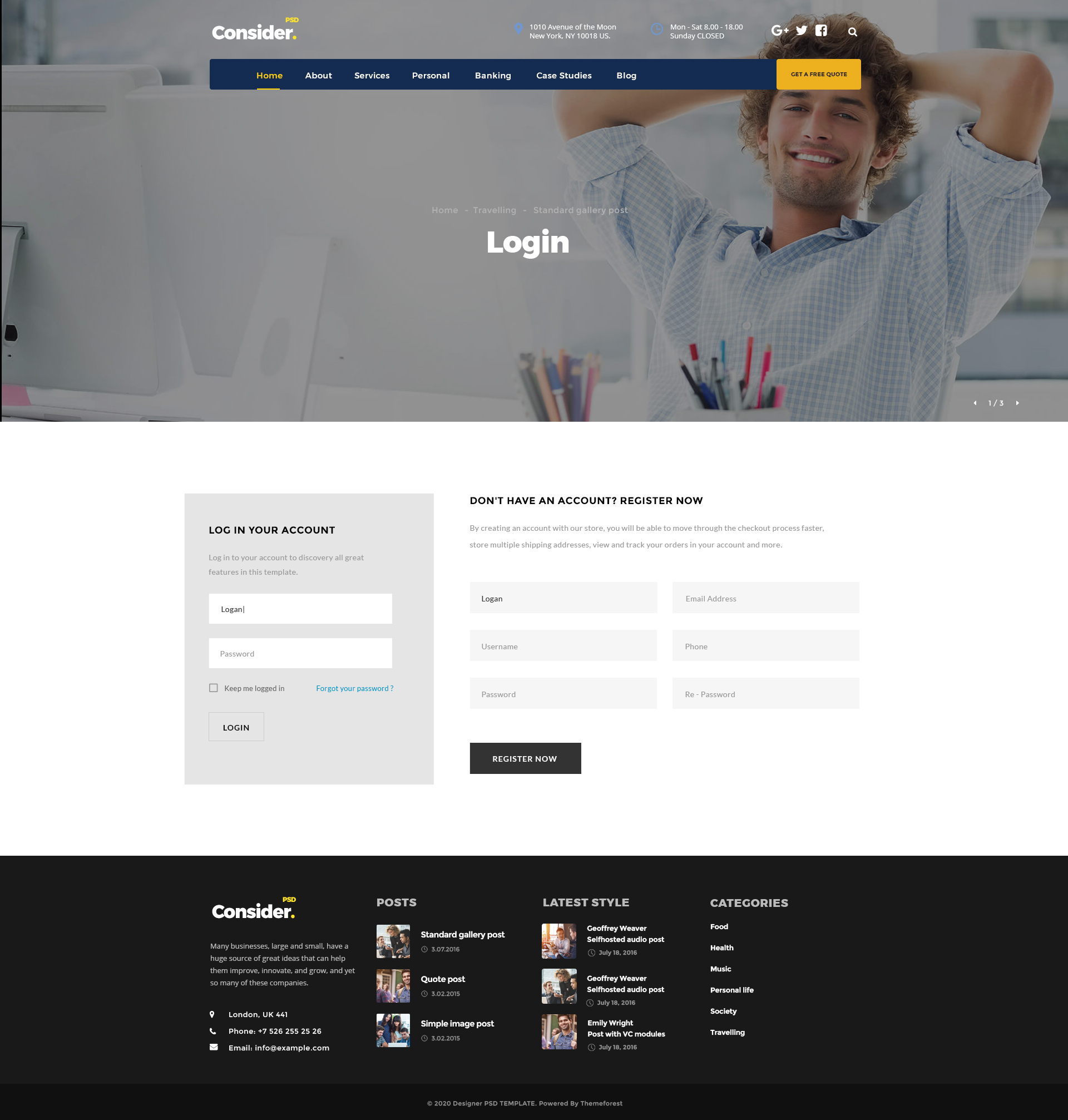 Consider Consultingfinance Business Agency Psd Template By