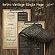 Retro Vintage Single Page Classy Menu A4 & US Letter
