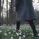 Beautiful Young Girl Walking Through Spring Forest - VideoHive Item for Sale