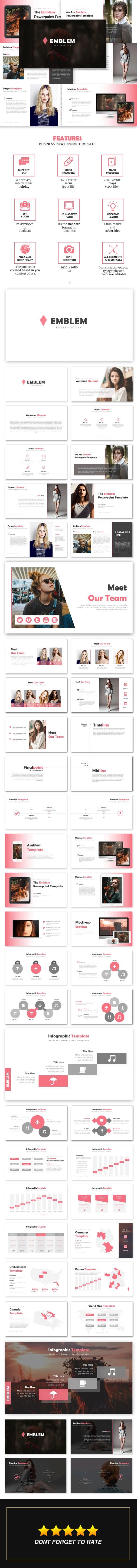 Emblem - Business Powerpoint Template - Business PowerPoint Templates
