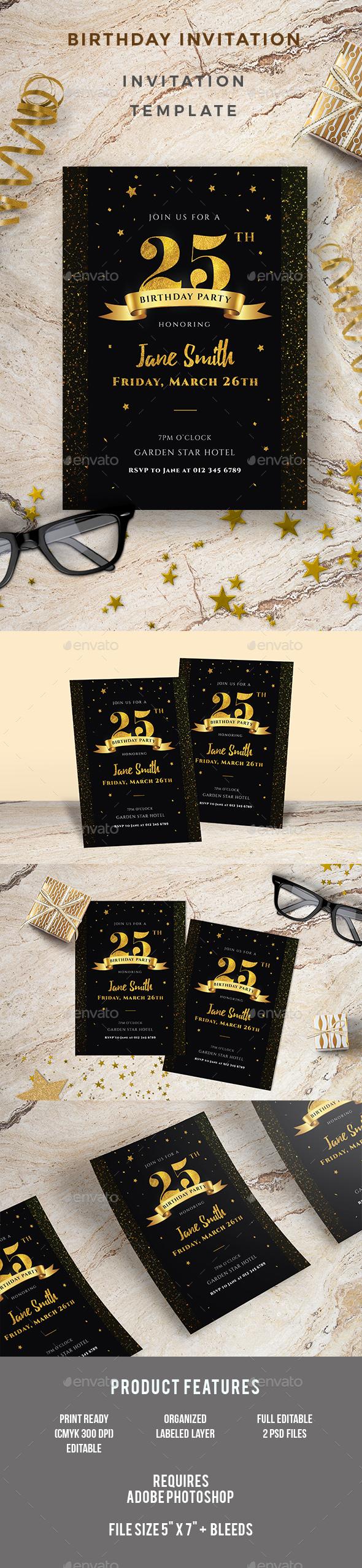 GraphicRiver Birthday Invitation 20653384
