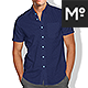 Short Sleeves Dress Shirt 3xMock-ups