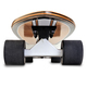 Dynamic front view of a Black and wooden skate board isolated - PhotoDune Item for Sale