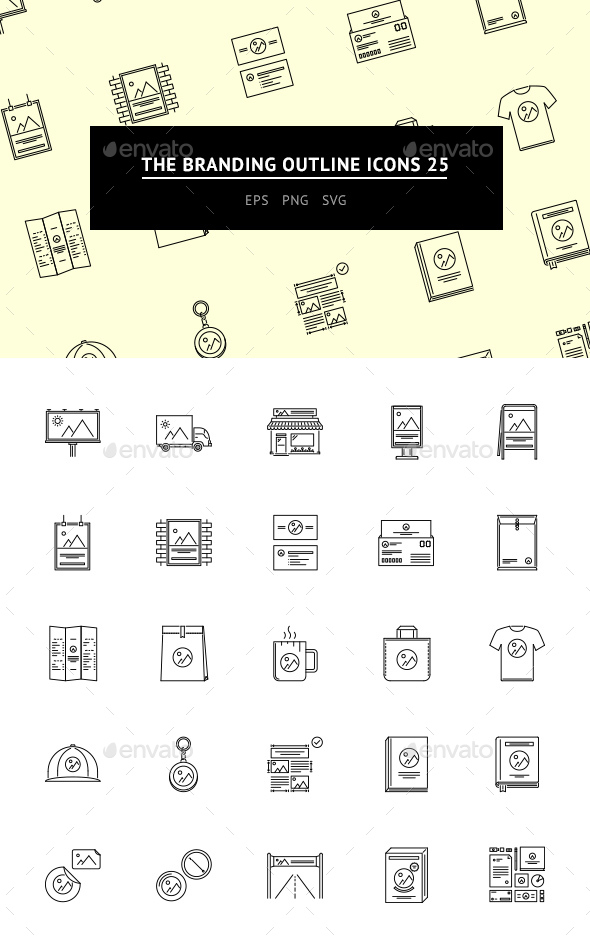 GraphicRiver The Branding Outline Icons 25 20653659