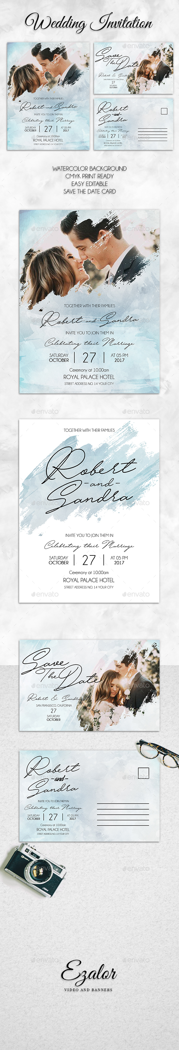 Watercolor Wedding - Wedding Greeting Cards