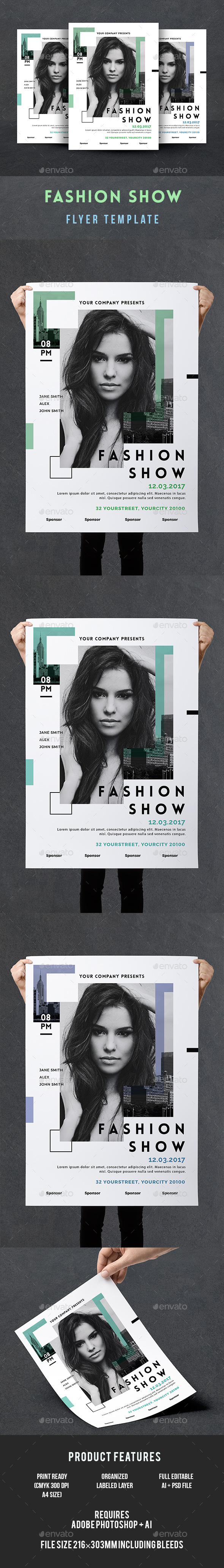 GraphicRiver Fashion Show Flyer 20653729