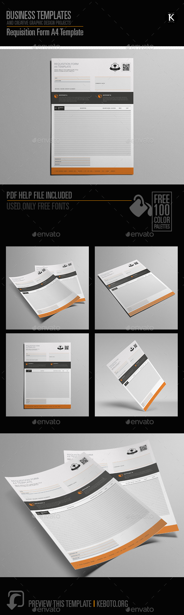 GraphicRiver Requisition Form A4 Template 20653828