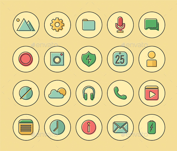 GraphicRiver Flat Icons 20653844