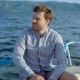 Pensive Man on Yacht Sitting and Enjoying Views of Sea