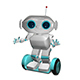 3D Illustration White Robot on Scooter - GraphicRiver Item for Sale