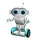 3D Illustration White Robot on Scooter - GraphicRiver Item for Sale