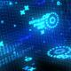 Futuristic HUD Techno VJ Loop