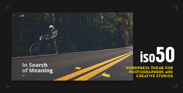 Iso50 - Photography WordPress Theme