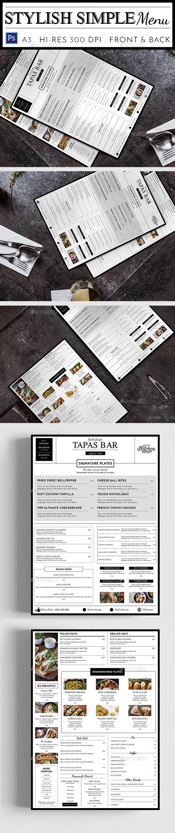 Stylish Simple Menu