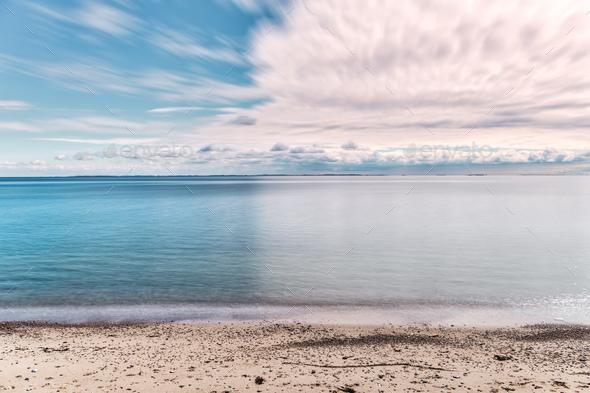 Langeland beach at daytime - Stock Photo - Images