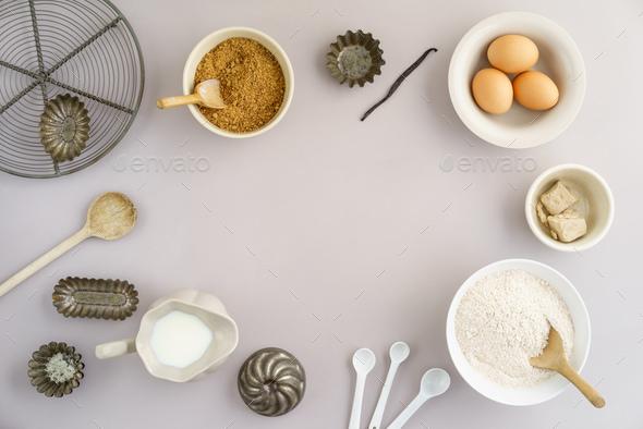 Basic baking ingredients - Stock Photo - Images