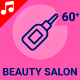 Beauty Salon Spa Equipment Makeup Animation - Line Icons and Elements - VideoHive Item for Sale