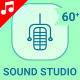 Music Sound Studio Instruments Animation - Line Icons and Elements - VideoHive Item for Sale
