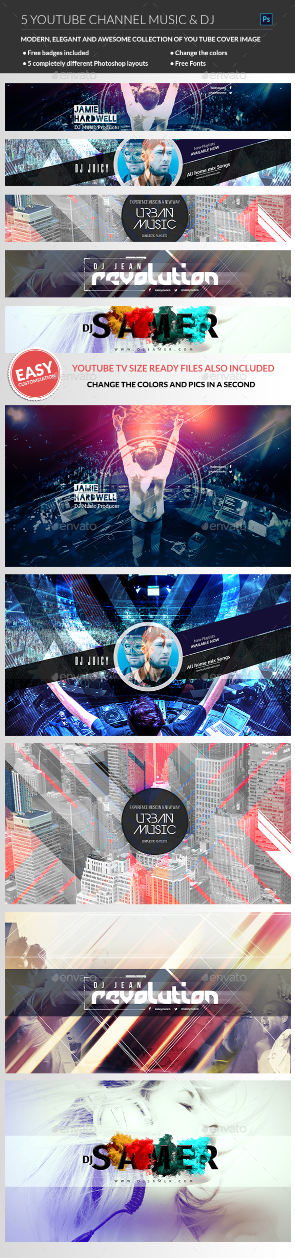 GraphicRiver Youtube Music Channel Art 20632055