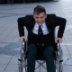 Capable Cripple Man Trying To Get Up From the Wheelchair - VideoHive Item for Sale