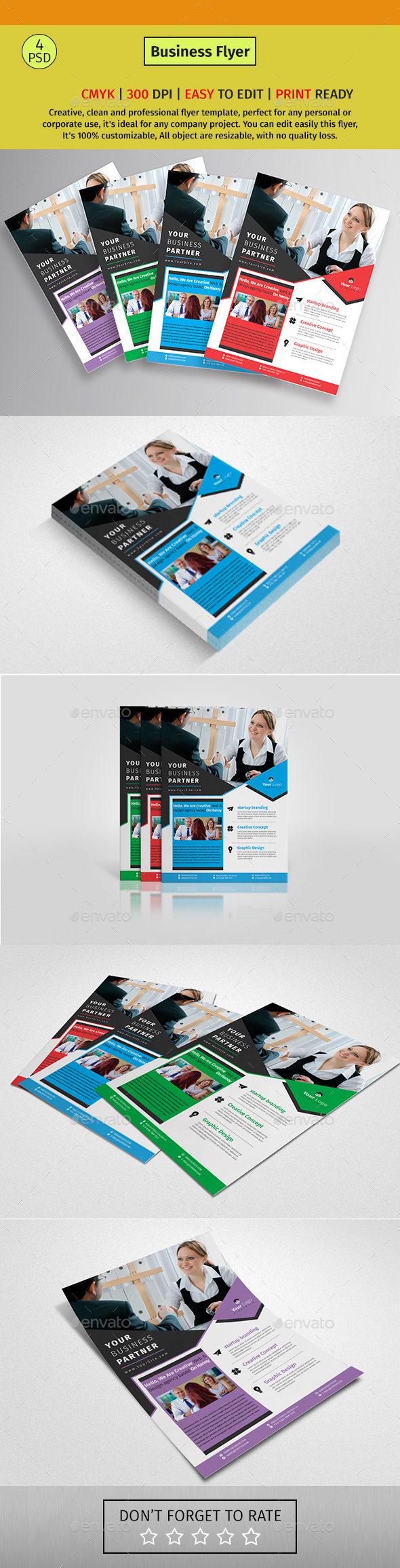 A4 Corporate Business Flyer #164 - Corporate Flyers