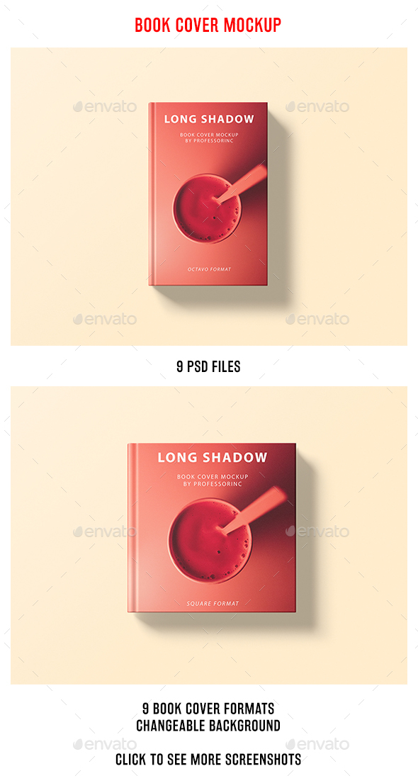 Long Shadow Book Cover Mockup - Books Print