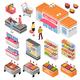 Supermarket Isometric Set
