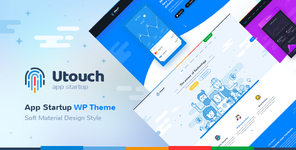 ThemeForest Utouch Startup Business and Digital Technology WordPress Theme 20654547