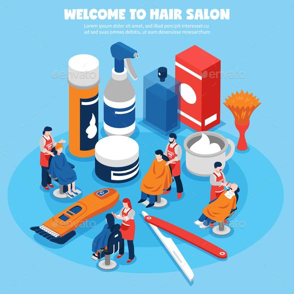 Barbershop Concept Illustration - Industries Business