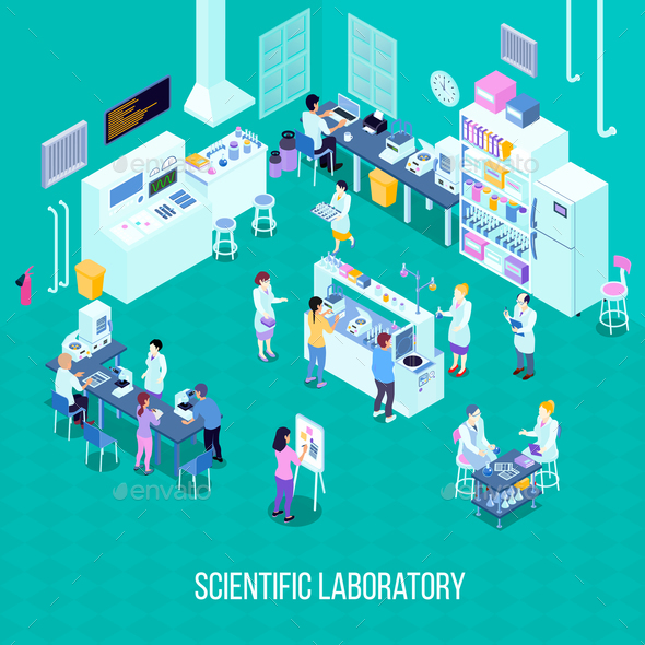 Laboratory Isometric Composition - Miscellaneous Vectors