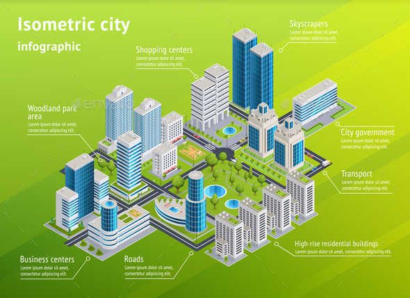 GraphicRiver City Infrastructure Isometric Infographics 20654590