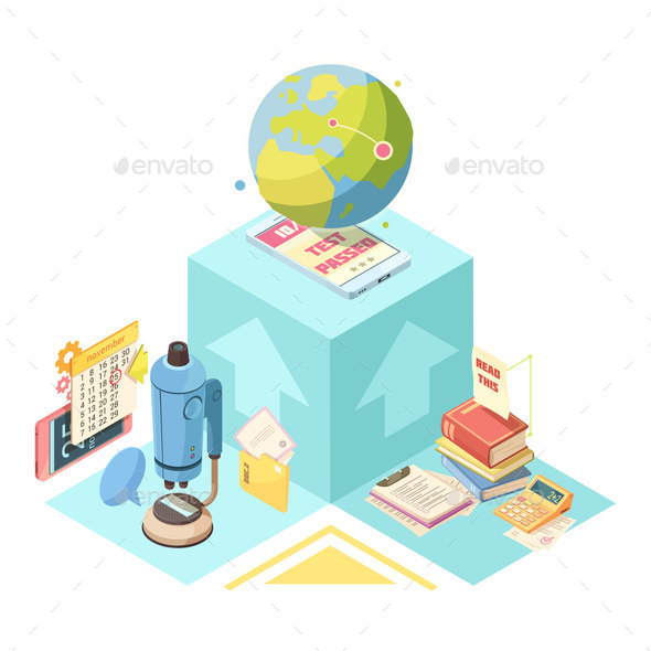GraphicRiver Distance Education Isometric Design 20654629