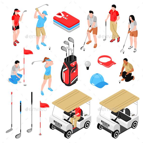 Golf Icons Set - Sports/Activity Conceptual