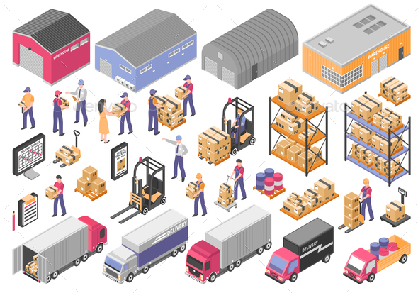Logistics Icons Set - Industries Business