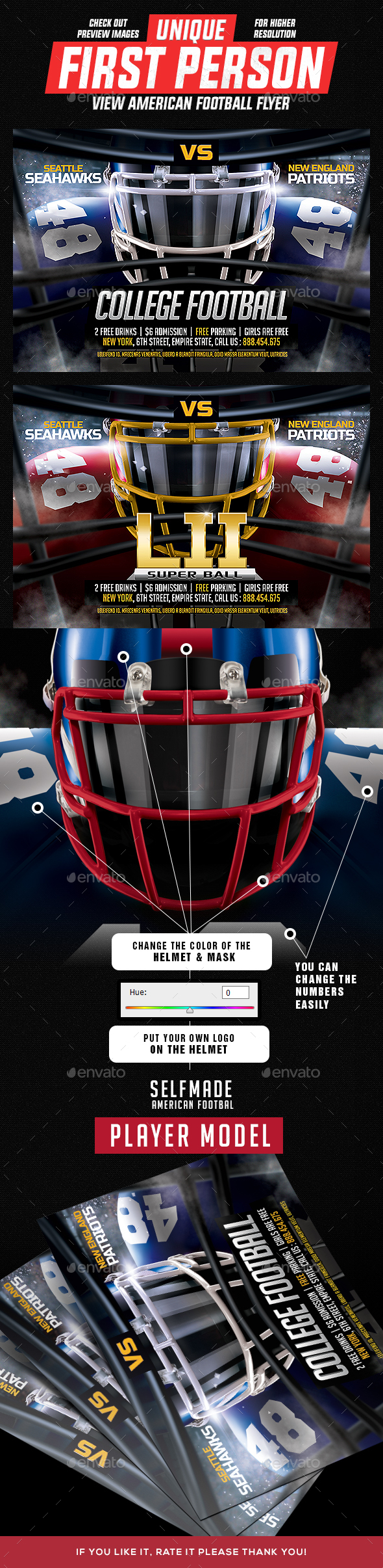 GraphicRiver First Person View American Football Flyer 20654721