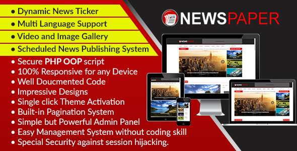 Newspaper - Responsive News, Magazine and Blog CMS Script - CodeCanyon Item for Sale