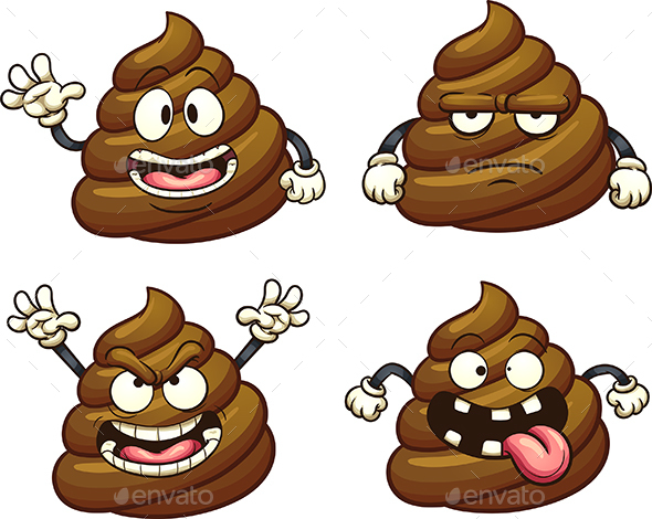 Cartoon Poop - Miscellaneous Characters
