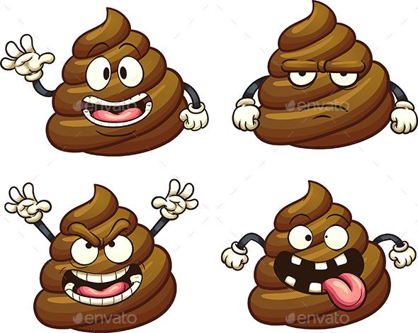GraphicRiver Cartoon Poop 20654932