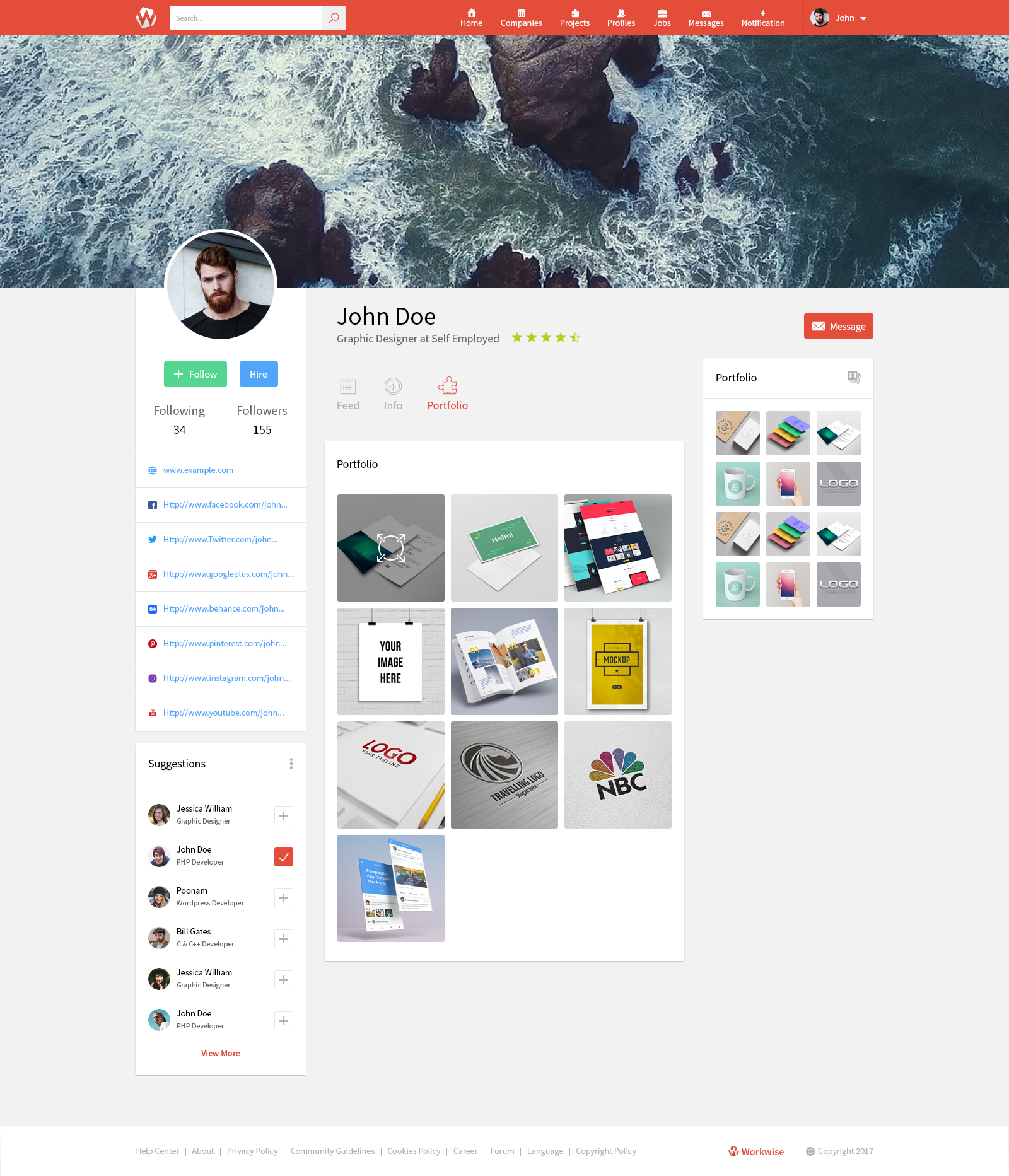 Workwise the freelancer and social networking psd template by gambol workwise the freelancer and social networking psd template maxwellsz