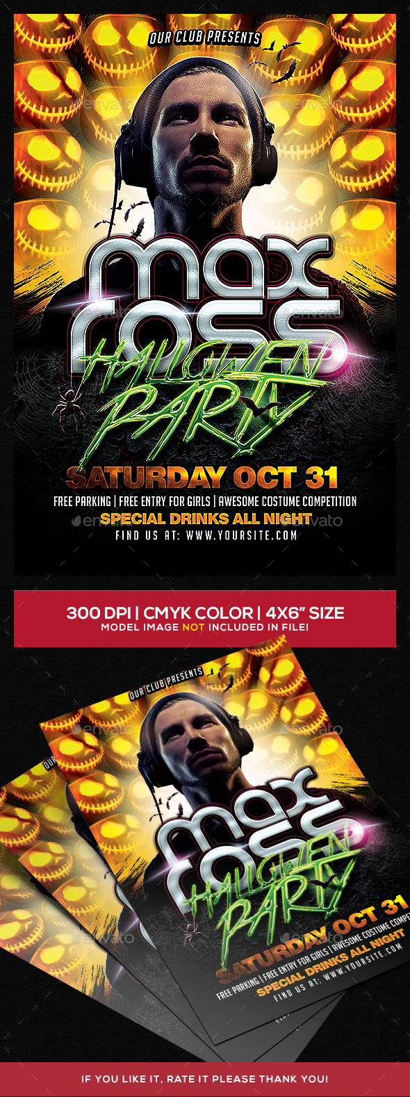 Halloween Party Dj Flyer Template